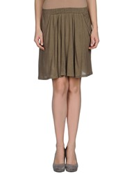 American Vintage Skirts Knee Length Skirts Women Military Green