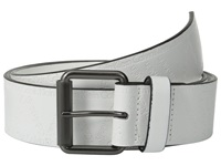 Calvin Klein 40Mm Flat Strap W Emboss City Grid Logo White Men's Belts