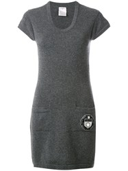 Chanel Vintage Knitted T Shirt Dress Grey