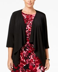 Connected Plus Size Cardigan Sweater Black