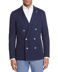 Canali Textured Washed Double Breasted Sport Coat Navy