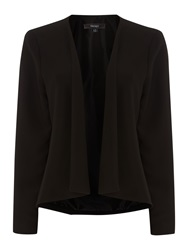 Therapy Soft Tailored Drape Front Jacket Black