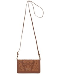 The Sak Willow Smartphone Crossbody Tobacco Floral Emboss