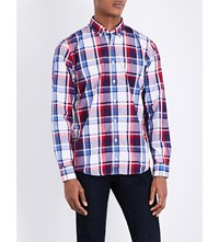 Tommy Hilfiger New York Fit Check Print Cotton Shirt Blackberry