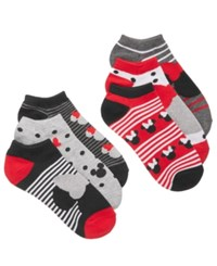 Disney Women's 6 Pk. Classic Minnie Mouse No Show Socks White