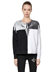 Marcelo Burlon Odila Printed Heavy Cotton Sweatshirt