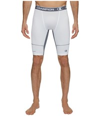 Champion Power Flex 9 Compression Shorts White Stormy Night Men's Shorts