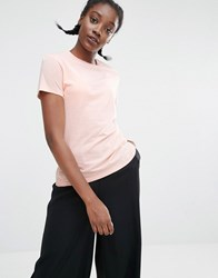 Monki Crew Neck T Shirt Pink