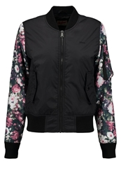 Schott Nyc Light Jacket Black Pink Rose