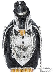 Judith Leiber Couture Alfred Penguin Bag Crystal Black