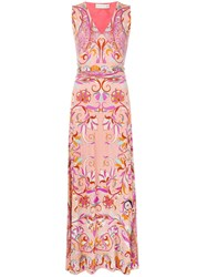 Etro All Over Print Dress Pink