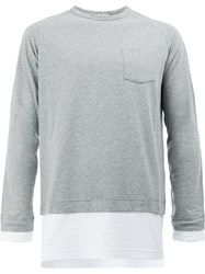 Wooster Lardini Layer Effect Long Sleeve Top Grey