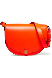 Victoria Beckham Half Moon Box Neon Leather Shoulder Bag Orange
