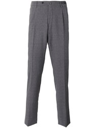 Pt01 Tailored Tapered Trousers Grey