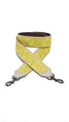 Rebecca Minkoff Stitched Guitar Strap Neon Yellow