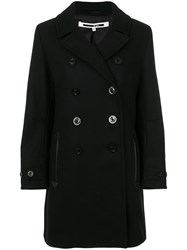 Mcq By Alexander Mcqueen Mid Length Peacoat Women Polyamide Polyester Viscose Wool 42 Black