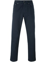 Hackett Tapered Trousers Blue