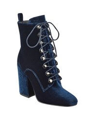 Kendall Kylie Bridget Suede Booties Dark Blue