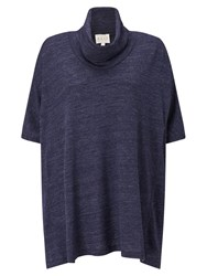East Oversized Cowl Jersey Top Sapphire