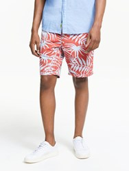Scotch And Soda Allover Printed Chino Shorts Red