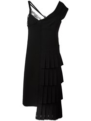Comme Des Garcons Vintage Assymetrical Slip Dress Black