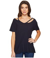 Culture Phit Sloane Short Sleeve Strappy Top Charcoal Women's Clothing Gray