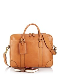 Ralph Lauren Polo Core Leather Commuter Bag Cognac
