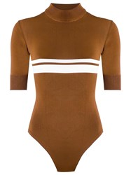 Haight Knit Swimsuit Brown