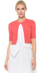 Lela Rose Cropped Cardigan Pink