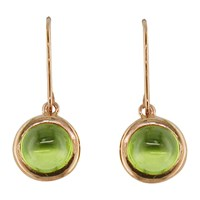 London Road 9Ct Rose Gold Pimlico Bubble Drop Earrings Peridot