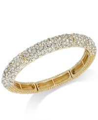 Alfani Crystal Stretch Bracelet Gold