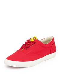 Bucketfeet Fuego Canvas Lace Up Sneaker Light Red