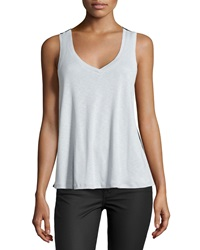 Love Scarlett Mesh Back V Neck Tank Cumulous
