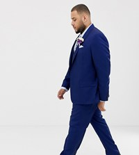 River Island Big And Tall Wedding Suit Trousers In Bright Blue