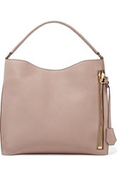 Tom Ford Alix Medium Textured Leather Tote Neutral