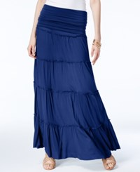 Inc International Concepts Tiered Convertible Maxi Skirt Only At Macy's Blue