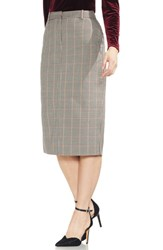Vince Camuto Country Check Pencil Skirt Rich Black