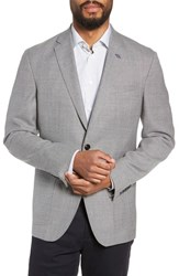 Ted Baker London Kyle Trim Fit Wool Blazer Light Grey