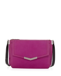 Time's Arrow Trilogy Leather Shoulder Bag Magenta