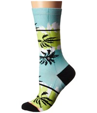Stance Venice Lime Women's Crew Cut Socks Shoes Green