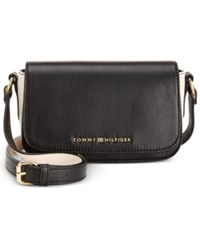 Tommy Hilfiger Claire Small Flap Crossbody Black White