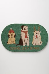 Anthropologie Holiday Pups Doormat Holly