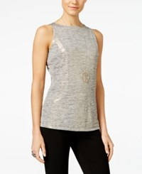 Inc International Concepts Metallic Boat Neck Tank Top Only At Macy's Gold