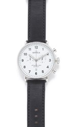 Shinola The Canfield Chronograph 43Mm Watch Black White