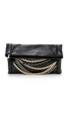 Ash Domino Chain Clutch Black