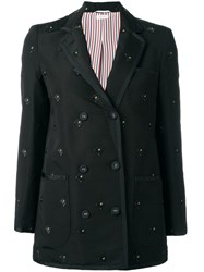 Thom Browne Studded Lockets Blazer Black