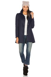 Olcay Gulsen A Line High Neck Coat Blue