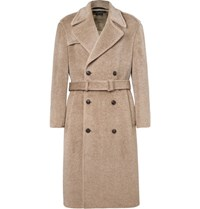 Marc Jacobs Oversized Double Breasted Brushed Woven Coat Beige