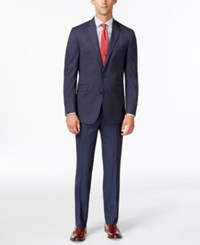 Kenneth Cole Reaction Slim Fit Navy Ministripe Suit 414Navy