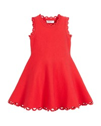 Milly Minis Eyelet Fit And Flare Dress Red